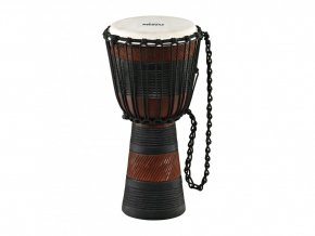 NINO DJEMBE AFRICAN MEDIUM BROWN/BLACK COMPLEX CARVING