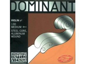 Thomastik Strings For Violin Dominant steel core 130 Medium AL wound