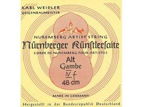 Nurnberger Strings For Viola Da Gamba Kuenstler rope core. Chrome steel wound A'