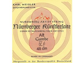 Nurnberger Strings For Viola Da Gamba Kuenstler rope core. Chrome steel wound F
