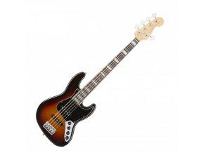 Fender American Elite Jazz Bass V, Rosewood Fingerboard, 3-Color Sunburst