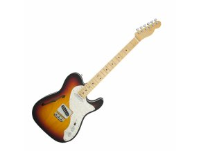 Fender American Elite Telecaster Thinline, Maple Fingerboard, 3-Color Sunburst