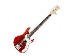 Fender American Elite Dimension Bass V HH, Rosewood Fingerboard, Cayenne Burst