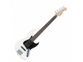 Fender Deluxe Active Jazz Bass V, Rosewood Fingerboard, Olympic White