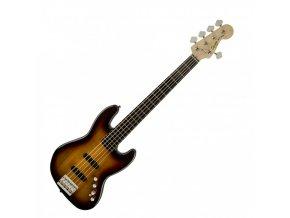 Squier Deluxe Jazz Bass V Active (5 String), Ebonol Fingerboard, 3-Color Sunbur