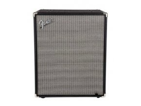 Fender Rumble 210 Cabinet, Black and Silver