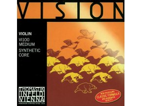 Thomastik Strings For Violin Vision synthetic core D Silver wound