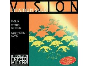 Thomastik Strings For Violin Vision Titanium solo synthetic core Medium