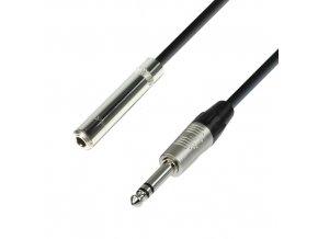 Adam Hall Cables K4 BOV 0300 - Kopfhörerverlängerung 6,3 mm Klinkenbuchse stereo