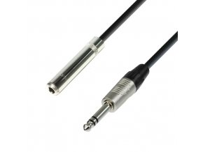 Adam Hall Cables K4 BOV 0600 - Kopfhörerverlängerung 6,3 mm Klinkenbuchse stereo