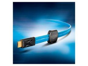 SC EBH4; HDMI / HDMI; 0,75m, modrř