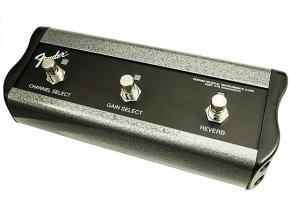 "Fender 3-Button Footswitch: Channel /Gain / Reverb with 1/4"" Jack"