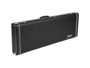 Fender G&G Deluxe Strat/Tele Hardshell Case, Black with Orange Plush Interior, F