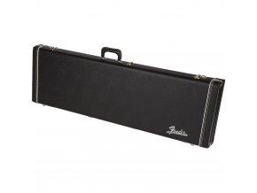 Fender G&G Deluxe Precision Bass Hardshell Case, Black with Orange Plush Interio