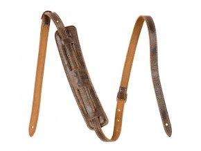 Fender Vintage-Style Distressed Leather Strap, Black