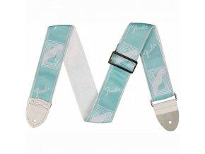 """Fender 2"""" Monogrammed Strap, Daphne Blue"""
