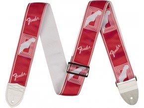 "Fender 2"" Monogrammed Strap, Candy Apple Red"