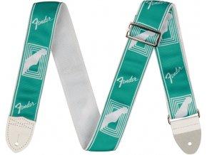 """Fender 2"""" Monogrammed Strap, Sea Foam Green"""