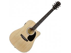 Fender SA-105CE, Dreadnought Cutaway, Natural