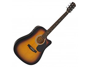 Fender SA-105CE, Dreadnought Cutaway, Sunburst