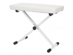 K&M 14077 Keyboard bench pure white leather