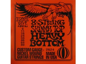 ernie ball electric nickel wound 8 string skinny top heavy bottom slinky 009 080 2624 14