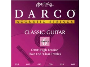 martin darco classical guitar strings d10h plain end 167 p 1