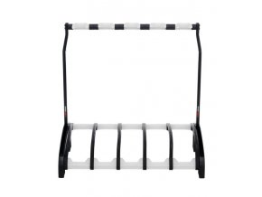 K&M 17525 Five e-guitar stand »Guardian 5« black with translucent support elemen