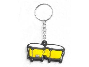 Musician Designer Music Key Chain Bongo Yellow