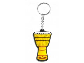 Musician Designer Music Key Chain African Drum Yellow