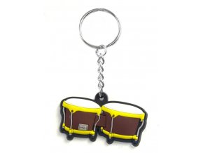 Musician Designer Music Key Chain Bongo Brown
