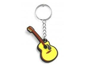Musician Designer Music Key Chain Acoustic Guitar