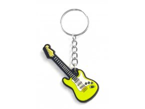 Musician Designer Music Key Chain Electric Guitar Green