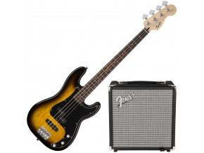 squier affinity series precision bass pj pack brown sunburst 1