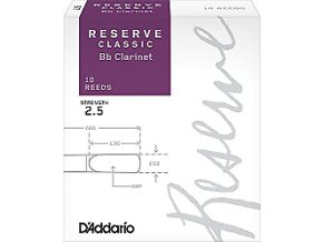 RICO DCT1025 RESERVE CLASSIC Bb klarinet  2.5