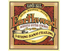 Ernie Ball Earthwood 5 - String Banjo Frailing Loop End 80/20 Bronze Acoustic Guitar