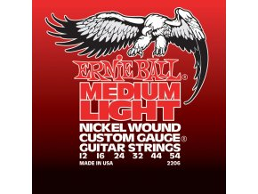 Ernie Ball Medium Light Nickel Wound w/ wound G Electric Guitar Strings
