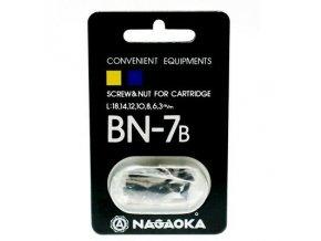 Nagaoka Pickup Screws Set Bn 7 B Black for