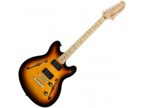 Squier Affinity Series Starcaster, Maple Fingerboard, 3 Color Sunburst 1