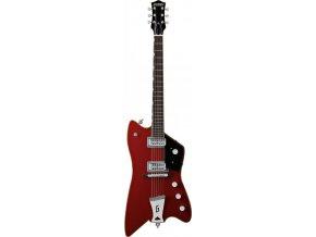"""Gretsch G6199 Billy-Bo Jupiter Thunderbird, """"G"""" Cutout Tailpiece, Firebird Red"""