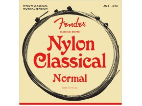 Fender Nylon Classical Strings, 130 Clear/Silver, Ball End, Gauges .028-.043