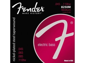 Fender 8250 Bass Strings, Nickel Plated Steel Taperwound, Long Scale, 8250M .045
