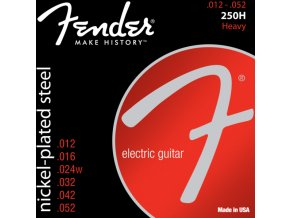 Fender Super 250 Guitar Strings, Nickel Plated Steel, Ball End, 250H Gauges .012