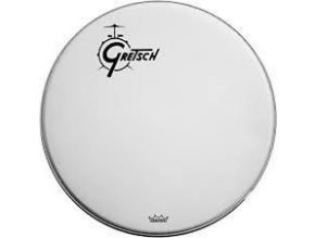 "Gretsch Logo Bass Drum Reso 24"" White Coated,Offset Logo G5528PLO"