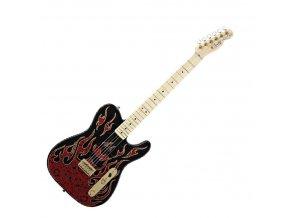 Fender James Burton Telecaster, Maple Fingerboard, Red Paisley Flames