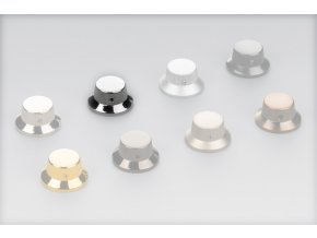 Schaller Strat knob, Straight-Knurled, Chrome, mosadz