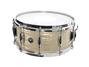 "Gretsch Wood Snare Brooklyn Series 6,5x14"" Vintage Cream Oyster Nitron"