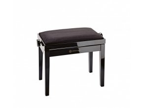 K&M 13901 Piano bench bench black glossy finish, seat black velvet