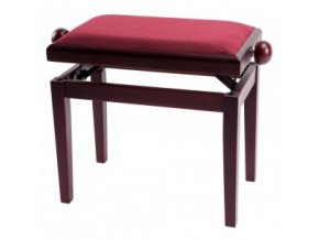 GEWA Piano bench GEWA Piano Deluxe Mahogany highgloss Bordeaux cover
