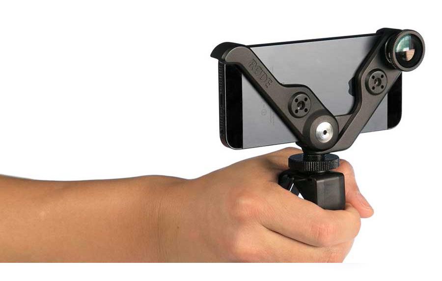 Rode RODEGrip + 5/5s držák iPhone 5/5s, objektivy